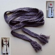 Medieval Platted 100% Woollen Belt - Brown